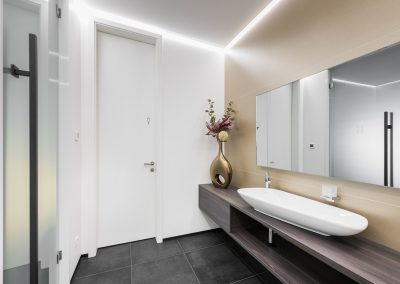 Novi poslovni prostori v nekdanji tovarni: toaleta